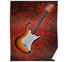 Sunburst Strat - Fender Stratocaster Guitar Poster