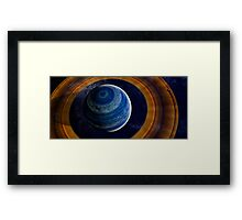 A ringed blue gas giant. Framed Print