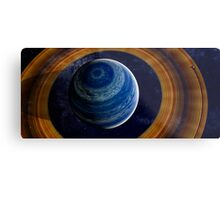 A ringed blue gas giant. Metal Print