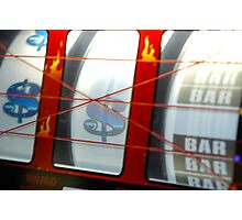 Gambling on slots in Las Vegas Photographic Print