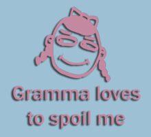 gramma spoils - pink Kids Tee