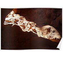 Light seeping thru a crack in Valley of Fire Poster