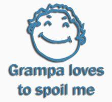 grampa spoil - blue Kids Tee