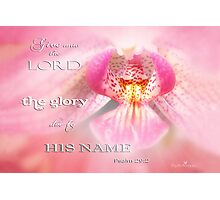 Glory due Photographic Print