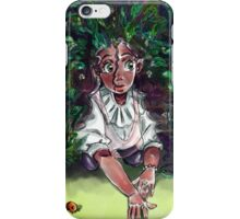 A Girl Hidden in the Leaves iPhone Case/Skin