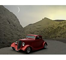 """1934 Ford Custom Coupe - """"Now where are we?"""" Photographic Print"""