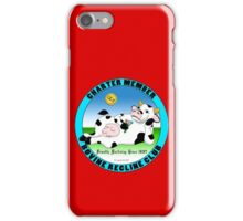 Official Bovine Recline Club  iPhone Case/Skin