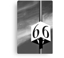 Lucky Number 6 Canvas Print
