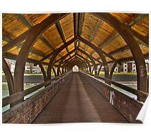 A Wooden bridge in Innsbruck, Austria (HDR) Poster