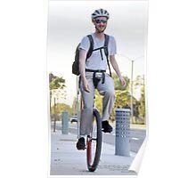 One Wheel Commute, La Mirada, CA USA Lei Hedger Photography  Poster