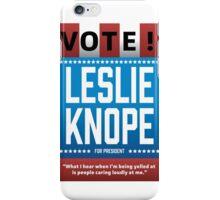 Leslie Knope For President iPhone Case/Skin