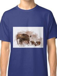 Elephant and Baby Classic T-Shirt