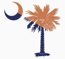 Orange and Purple Palmetto Moon by PalmettoTrading