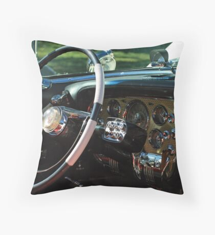 1956 Packard Caribbean Interior Throw Pillow