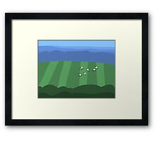 Field with Sheep Framed Print