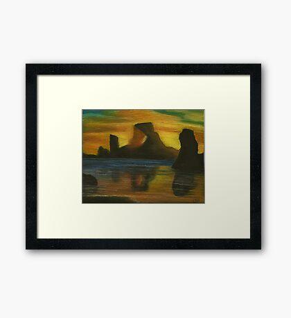 The Light Shinning Through Framed Print