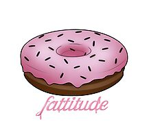 Fattitude - Chocolate Donut Photographic Print