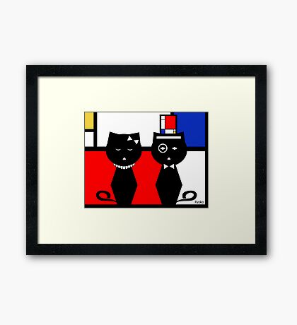 Composition in Red, Blue, and Yellow Framed Print