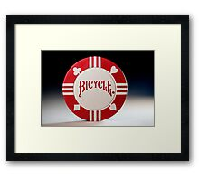Pick a Suit - Red Poker Chip Framed Print