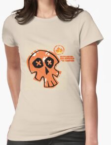 Pop-Skull Womens Fitted T-Shirt