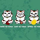 Three Wise and Lucky Neko by KMartinez