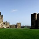 Panorama of Alnwick Castle (aka Hogwarts of Harry Potter) by Bernie Stronner