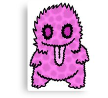 Ghouly Fuzz Pink Canvas Print