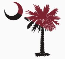 Garnet and Black Palmetto Moon by PalmettoTrading