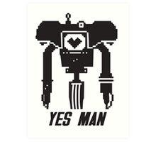YES MAN: PIXEL VECTOR Art Print