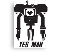 YES MAN: PIXEL VECTOR Canvas Print