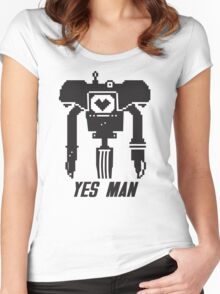 YES MAN: PIXEL VECTOR Women's Fitted Scoop T-Shirt