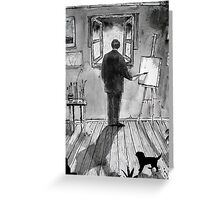 painting rain Greeting Card
