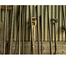 Tools in Vertical Lines Photographic Print