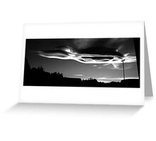 College Heights Skyline at Dusk Greeting Card