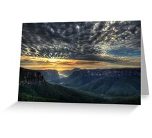 Govett's Leap Sunrise Greeting Card