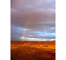 A Rainbow in the Desert Photographic Print