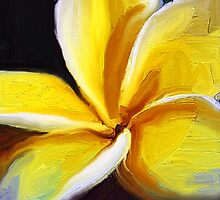Painted Plumeria by suzannem73