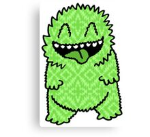 Fuzzy Green Monster Canvas Print