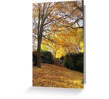 Fall on Stone Stairwell  Greeting Card