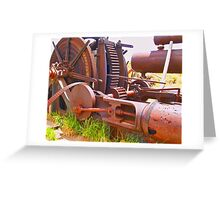 Massive steam powered mining winch Greeting Card