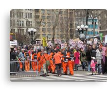 Anti-war Demonstration in Union Square, New York City Canvas Print