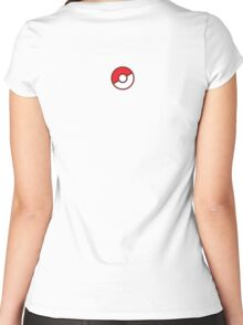 Pokeball (Flat Colors) Women's Fitted Scoop T-Shirt