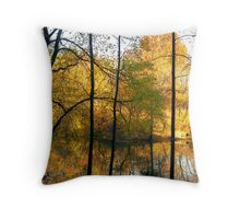 Autumn silhouette Colours Throw Pillow