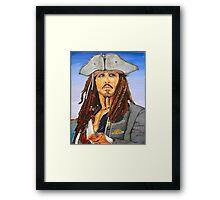 Johnny Depp as Cpt. Jack Sparrow Framed Print