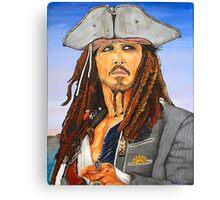 Johnny Depp as Cpt. Jack Sparrow Canvas Print