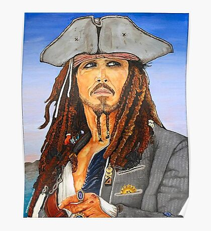 Johnny Depp as Cpt. Jack Sparrow Poster
