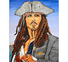 Johnny Depp as Cpt. Jack Sparrow Photographic Print