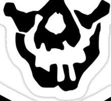 Skull Squadron (black skull) Sticker