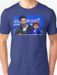 Derrick Rose and Son D Rose Jr Post game T-Shirt