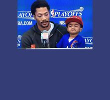 Derrick Rose and Son D Rose Jr Post game Unisex T-Shirt